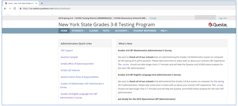 Schools Must Use the Chrome Browser for Accessing Nextera